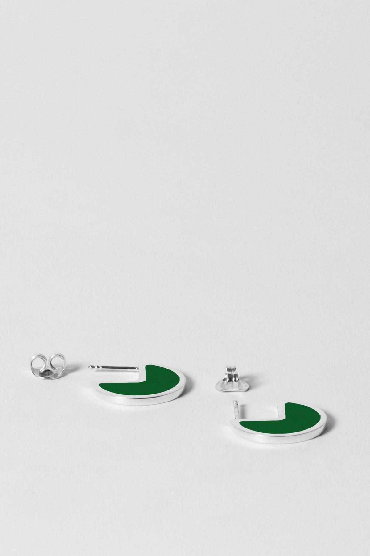 ALMOST ONE – EARRINGS – RACING GREEN 2