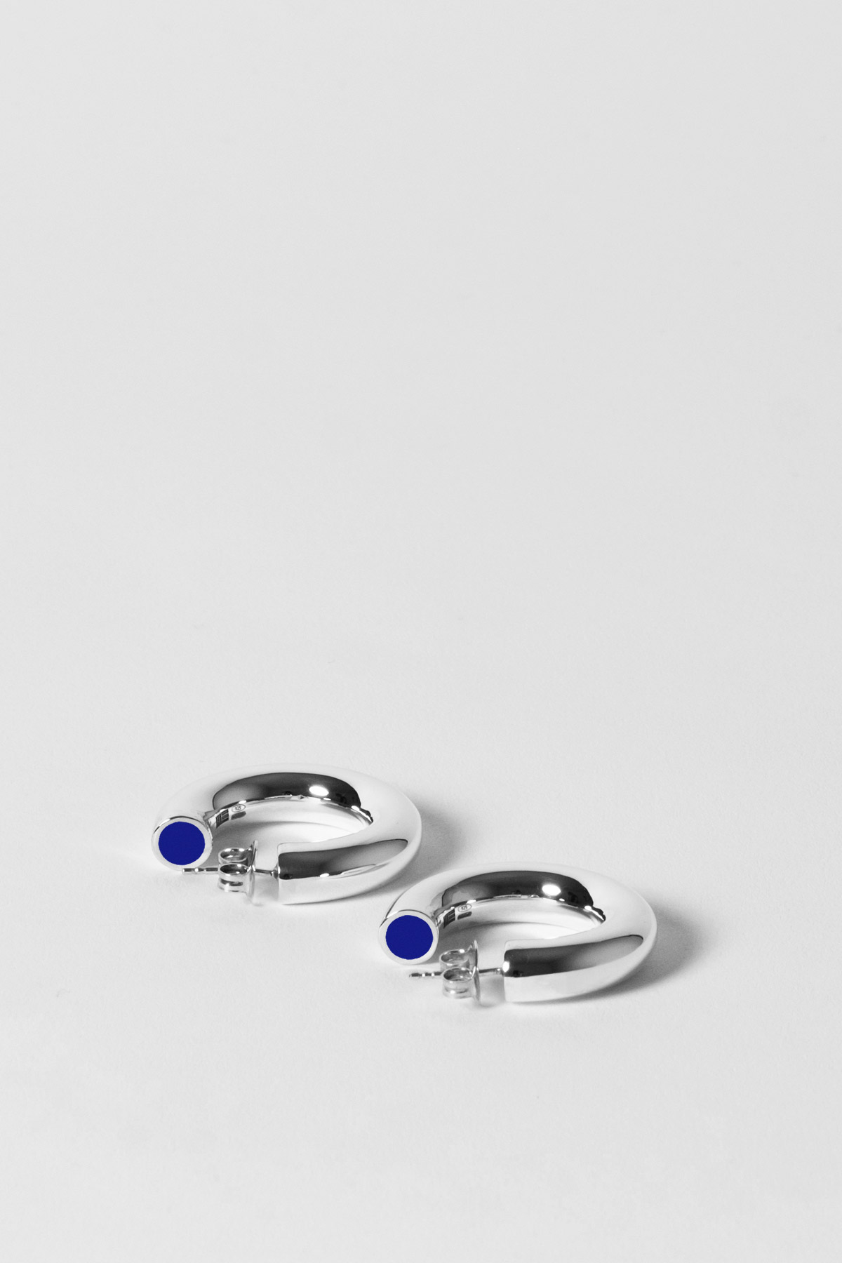 THE TUBULAR – MINI EARRINGS – BLUE BLUE 1