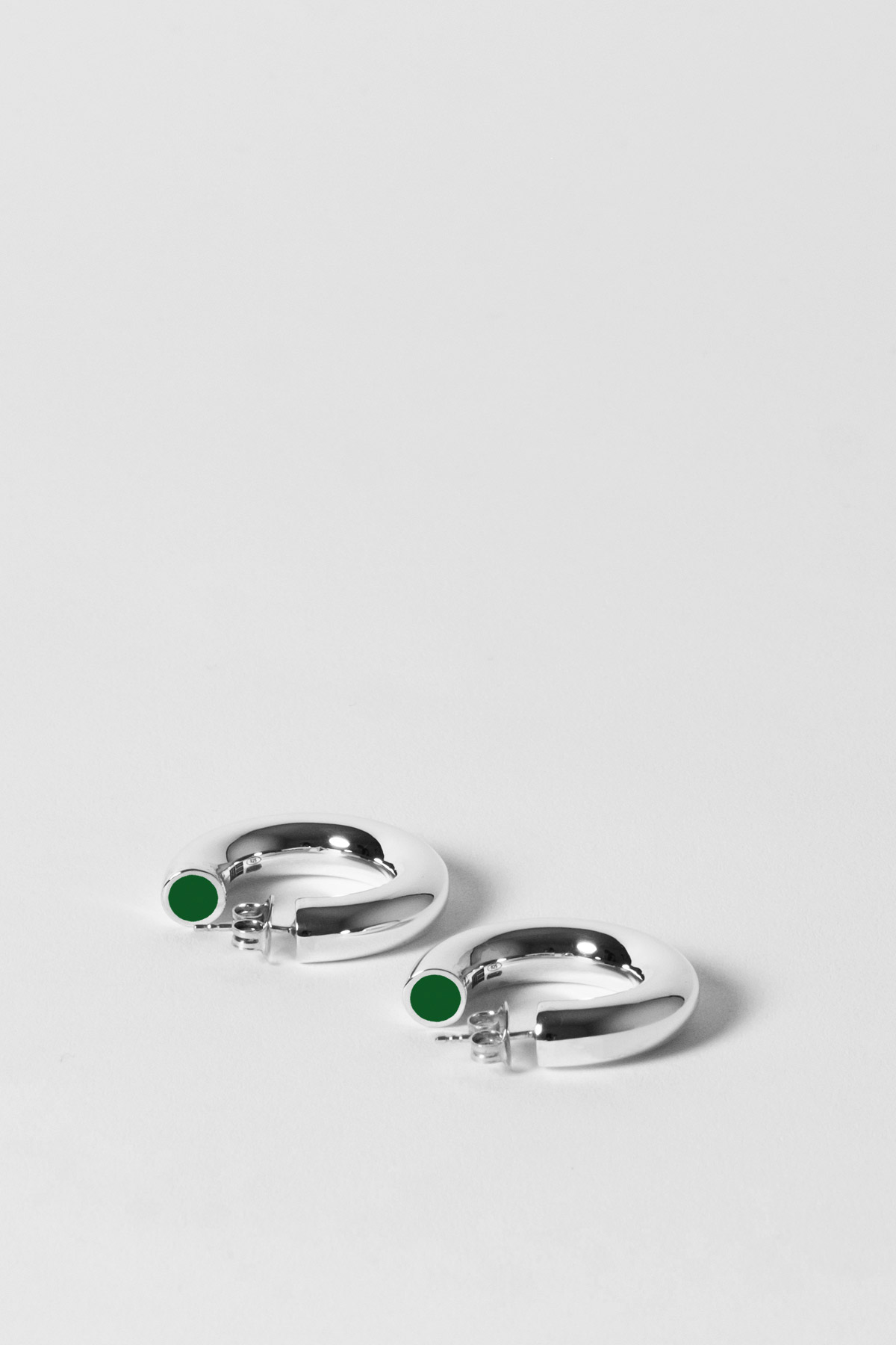 THE TUBULAR – MINI EARRINGS – RACING GREEN 1